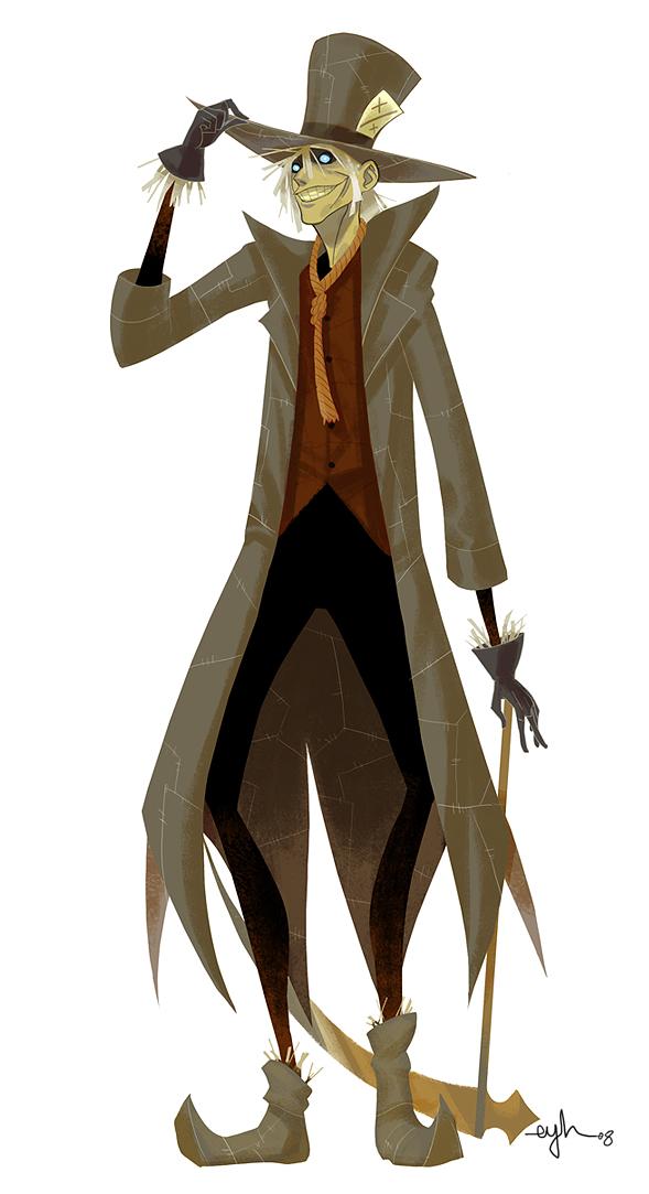 Batman Villain Mashup: MADCROW by Gingashi - Mad Hatter x Scarecrow