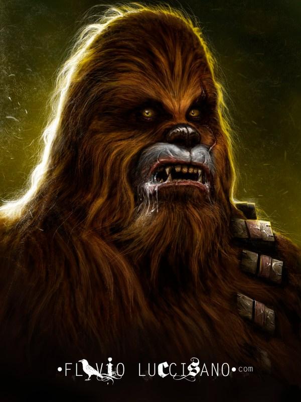 Chewbacca by Flavio Luccisano - Star Wars, Wookiee, Fan Art
