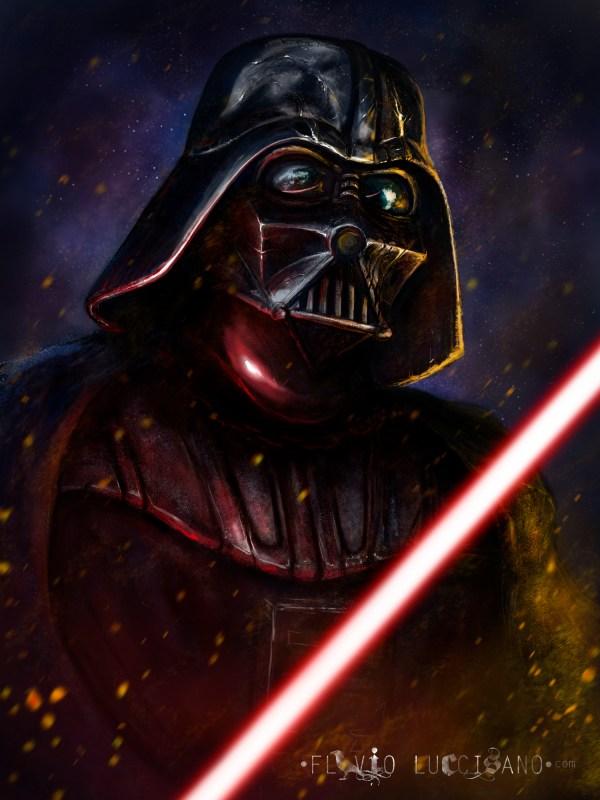 Darth Vader by Flavio Luccisano - Star Wars Fan Art