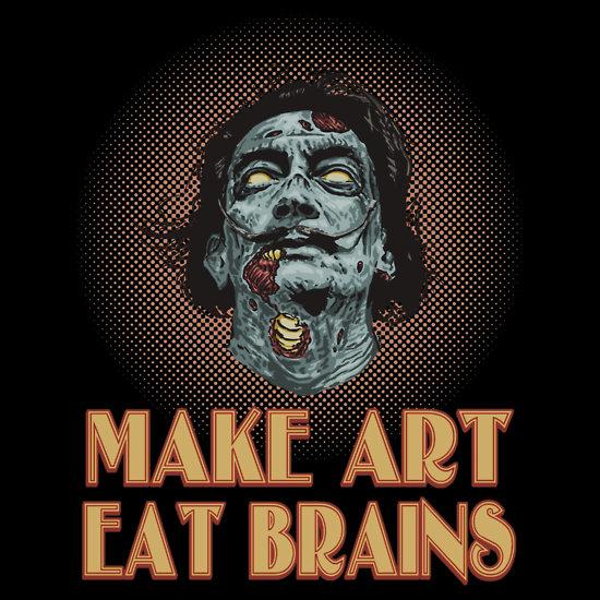 Make Art Eat Brains: Salvador Dali Zombie Art by ShantyShawn