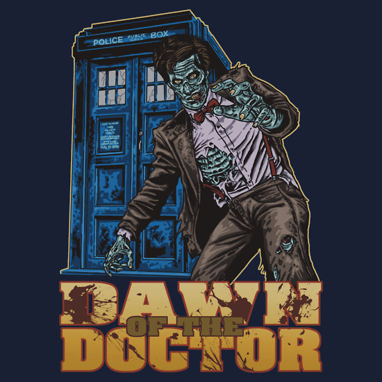 Dawn of the Doctor - Doctor Who Zombie Art by ShantyShawn