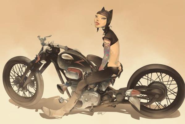 Catwoman by Otto Schmidt - DC Comics, Batman, Art