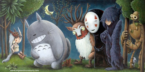 Studio Ghibli (Hayao Miyazaki) / Where The Wild Things Are Tribute (Maurice Sendak)