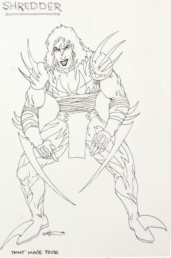 Super Shredder by Kevin Eastman - tmnt 4 concept art