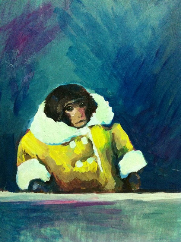 IKEA Monkey Painting by Wendy Faust - Darwin, Japanese snow macaque