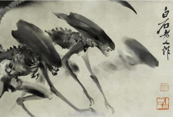 Xenomorph Watercolor Painting [Alien Art]