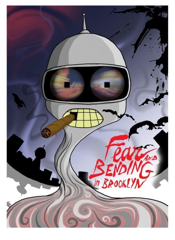 Bender - Futurama x Fear and Loathing in Las Vegas