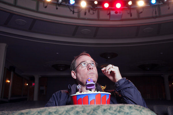 Cool Photo of Joel Hodgson with Mini MST3K Bots