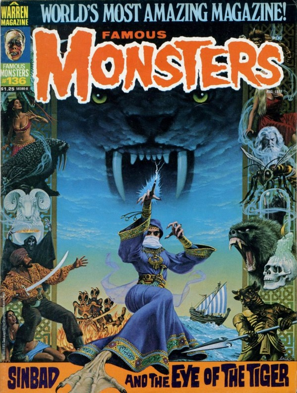 Famous Monsters of Filmland #136 - Sinbad and the Eye of the Tiger