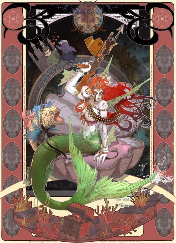 The Little Mermaid by Park Insu - sci-fi, underwater, alternative, steampunk
