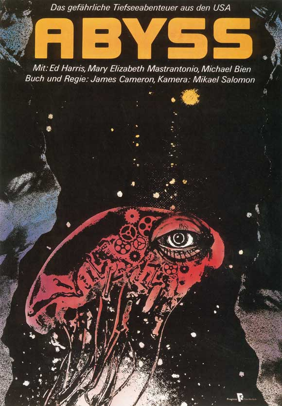 German Movie Poster for The Abyss