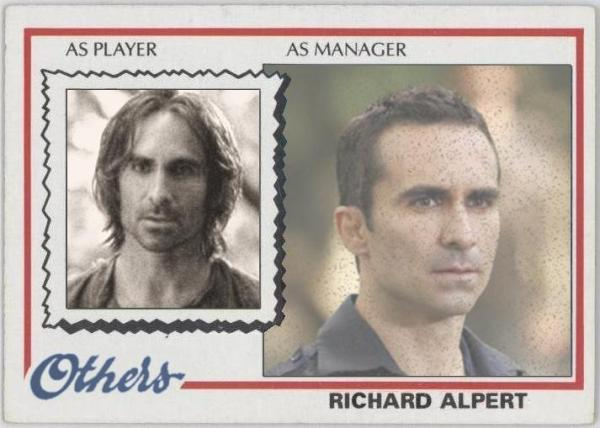 Richard Alpert - LOST Baseball Card - Nestor Carbonel