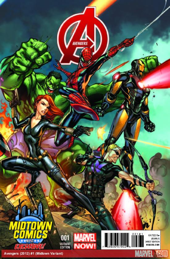 Avengers 1 Midtown Exclusive J Scott Campbell Connecting