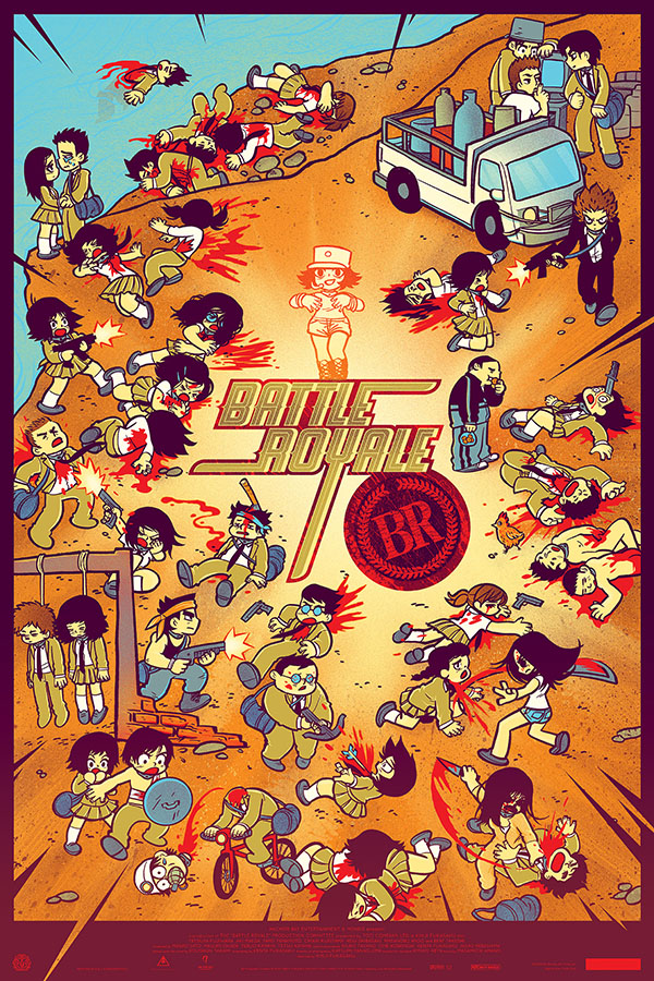 Battle Royale Poster by Scott Pilgrim Creator Bryan Lee O'Malley