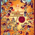 Mondo Battle Royale Print by Bryan Lee O'Malley and Kevin Tong