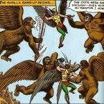 Hawkman & Hawkgirl vs Flying Gorillas - DC Comics
