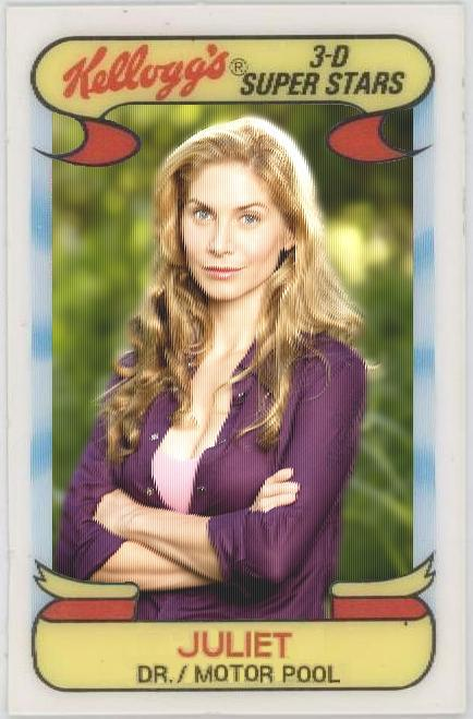 Juliet Burke - LOST Baseball Card - Elizabeth Mitchell