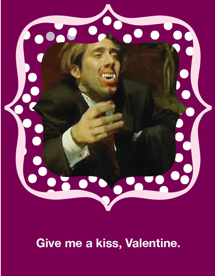 Give Me A Kiss, Valentine   Nicolas Cage Valentineu0027s Day Card