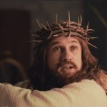 Christoph Waltz as Jesus in DJesus Uncrossed