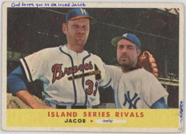 jacob and the man in black - LOST Baseball Card - Mark Pellegrino and Titus Welliver