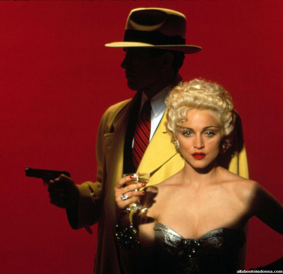 Madonna And Warren Beatty As Breathless Mahoney And Dick