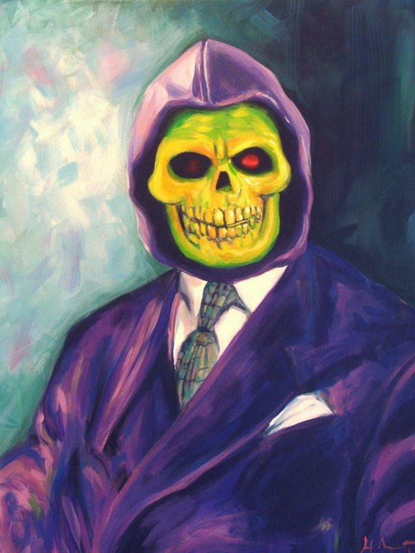 Skeletor Portrait by Hillary White -- Masters of the Universe, He-Man