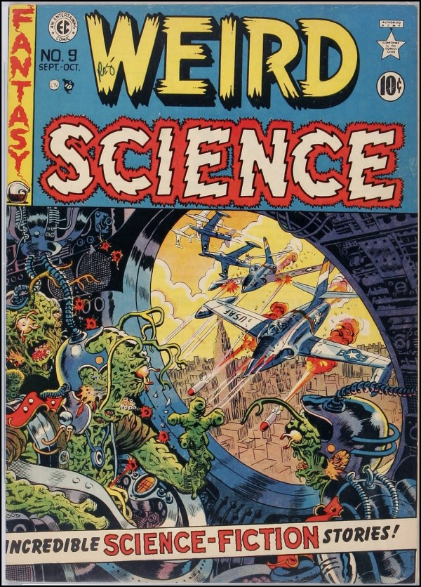 Weird Science 9 Cover Art by Wally Wood