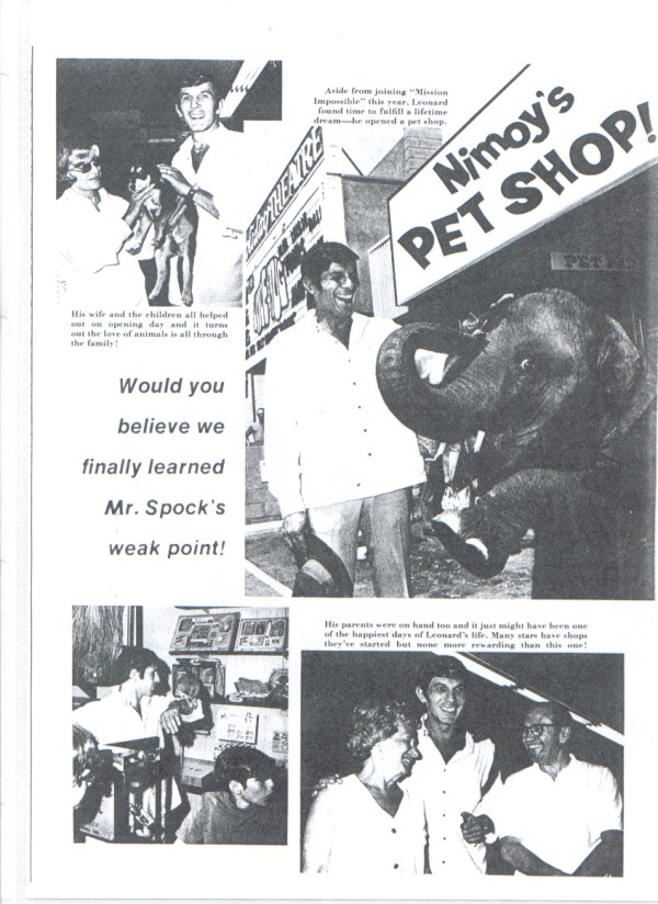 Leonard Nimoy Pet Shop