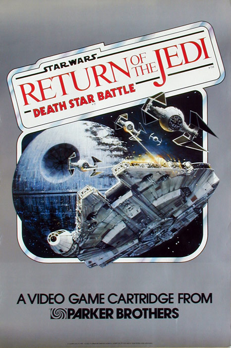 Return of the Jedi Death Star Battle Video Game Art by John Berkey