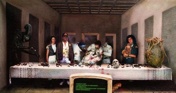 Alien Last Supper Painting - Last Supper of the Nostromo Crew