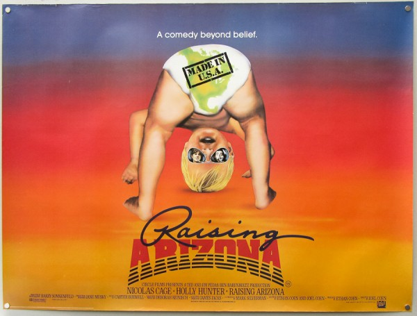 Raising Arizona UK Movie Poster 1987