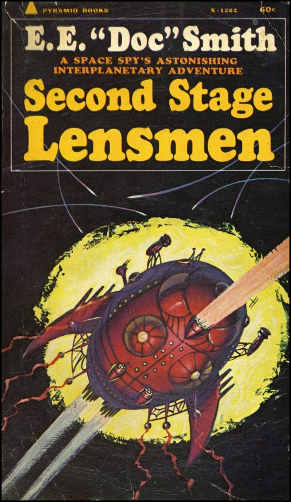 2nd stage lensman - e.e. doc smith - cover by jack gaughan