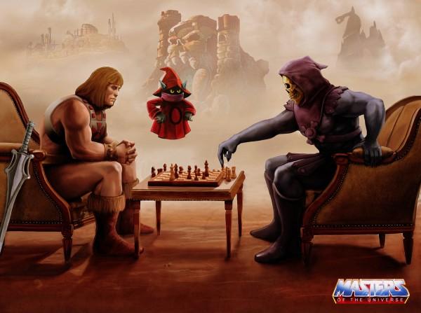 He-Man vs Skeletor: Chess Battle for Eternia - masters of the universe art