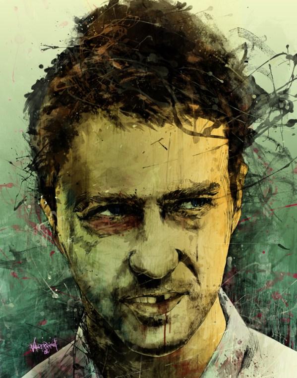 schizo by fresh doodle - edward norton in Fight Club - David Fincher - Chuck Palahniuk