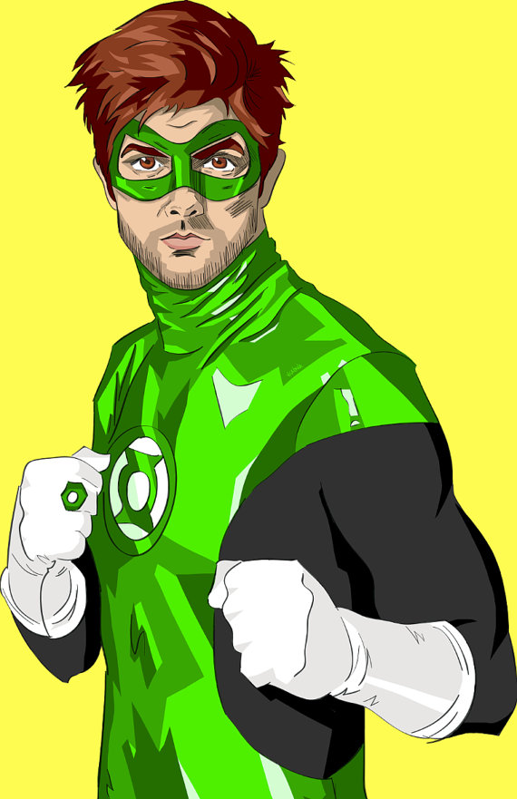 Ben Wyatt as the Green Lantern - Parks and Recreation, Justice League, Adam Scott