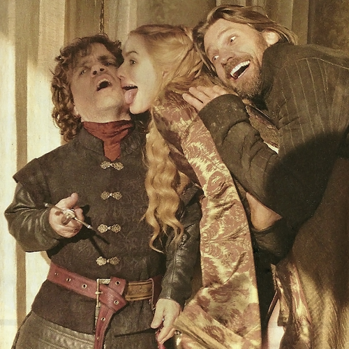 TV Guide Game of Thrones Photoshoot - Peter Dinklage, Lena Headey and Nikolaj Coster-Waldau as Tyrion, Cersei, and Jaime Lannister