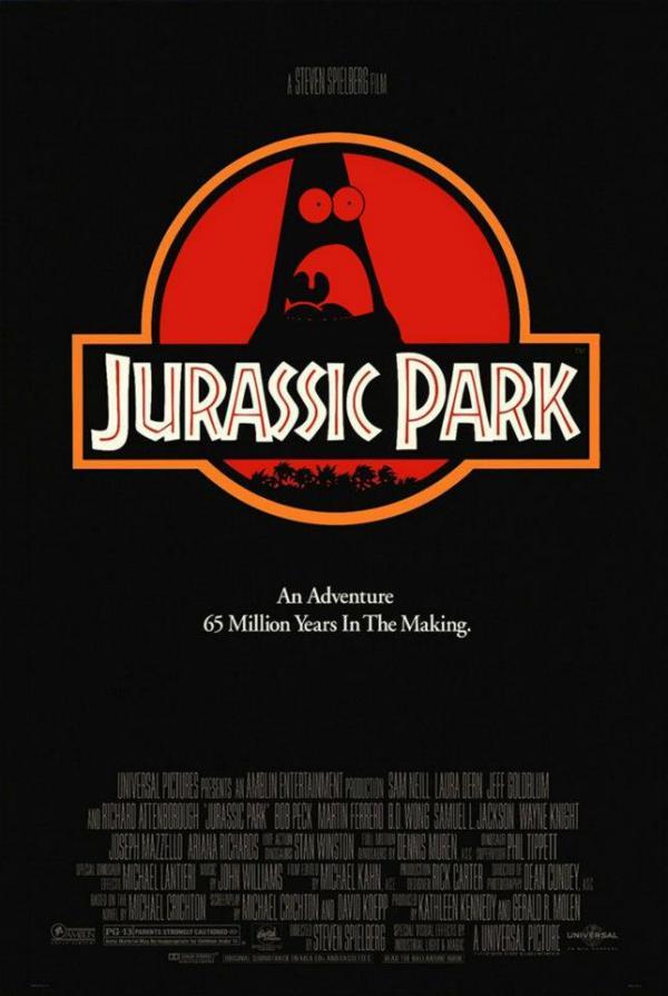 Surprised Patrick x Jurassic Park Poster - SpongeBob SquarePants, Patrick Star