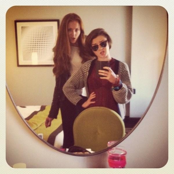 Game of Thrones Cast: Sophie Turner (Sansa Stark), Maisie Williams (Arya Stark)