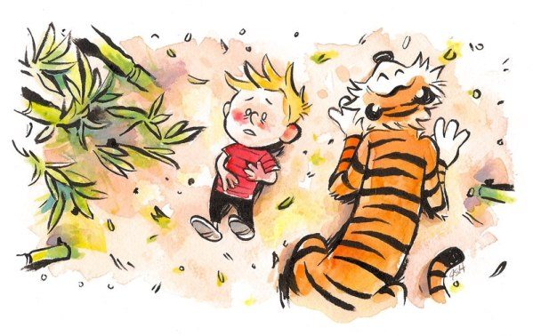 The Final Adventure by Julia Sonmi Heglund - Calvin and Hobbes as Jack and Vincent from LOST