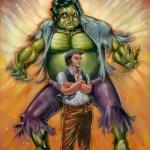 The Incredible Belushi by Augie Pagan - Hulk x John Belushi - Saturday Night Live Art