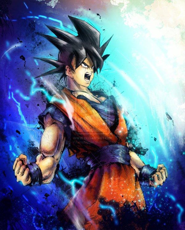 Goku Portrait by Vincent Vernacatola - Dragon Ball Z Art - Anime