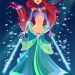 Jedi Ariel by Pushfighter - Disney Star Wars Princesses - Little Mermaid