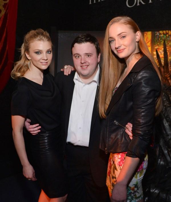 Game of Thrones Cast - Natalie Dormer (Margaery Tyrell), John Bradley (Samwell Tarly), Sophie Turner (Sansa Stark)