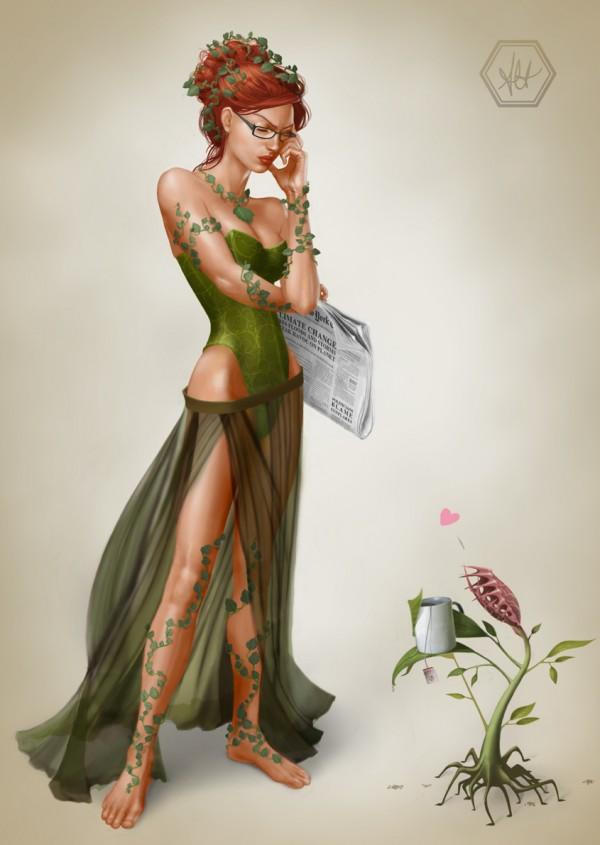 Bad News - Poison Ivy Art by Alanna Howe - Batman Villains - DC Comics