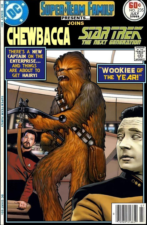 Chewbacca joins Star Trek: The Next Generation - Star Wars Crossover
