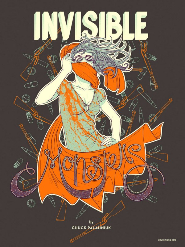 Chuck Palahniuk's Invisible Monsters Poster by Kevin Tong