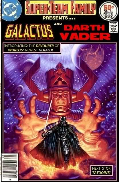 Galactus and Darth Vader Team-Up - Star Wars x Marvel Comics Crossover