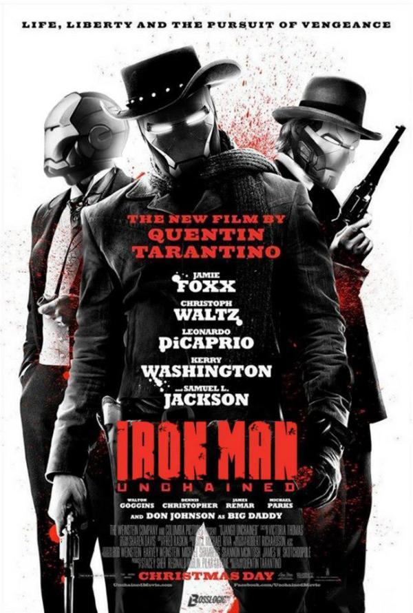 Iron Man x Django Unchained Poster Mashup by BossLogic - Quentin Tarantino Movies
