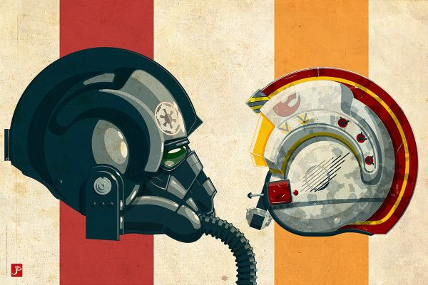 Star Wars Pilots - Rebel Alliance vs Galactic Empire by Jakob Staermose