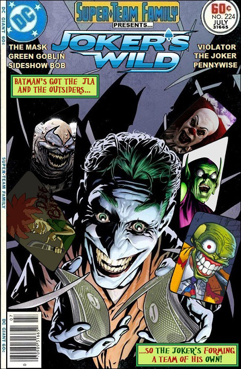 Jokers Wild - Mask, Green Goblin, Sideshow Bob, Violator, Joker, Pennywise